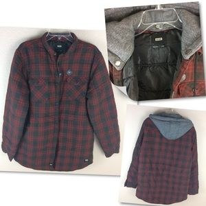 Globe Men's Western Shirt Jacket Quilted plaid NEW
